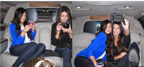 Kylie Jenner wearing Naven blazer in Vegas Blue