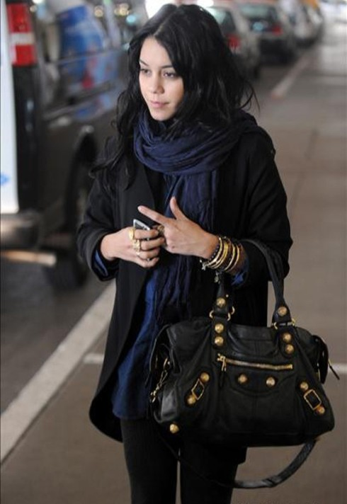 vanessa Hudgens wearing Love Quotes Scarf