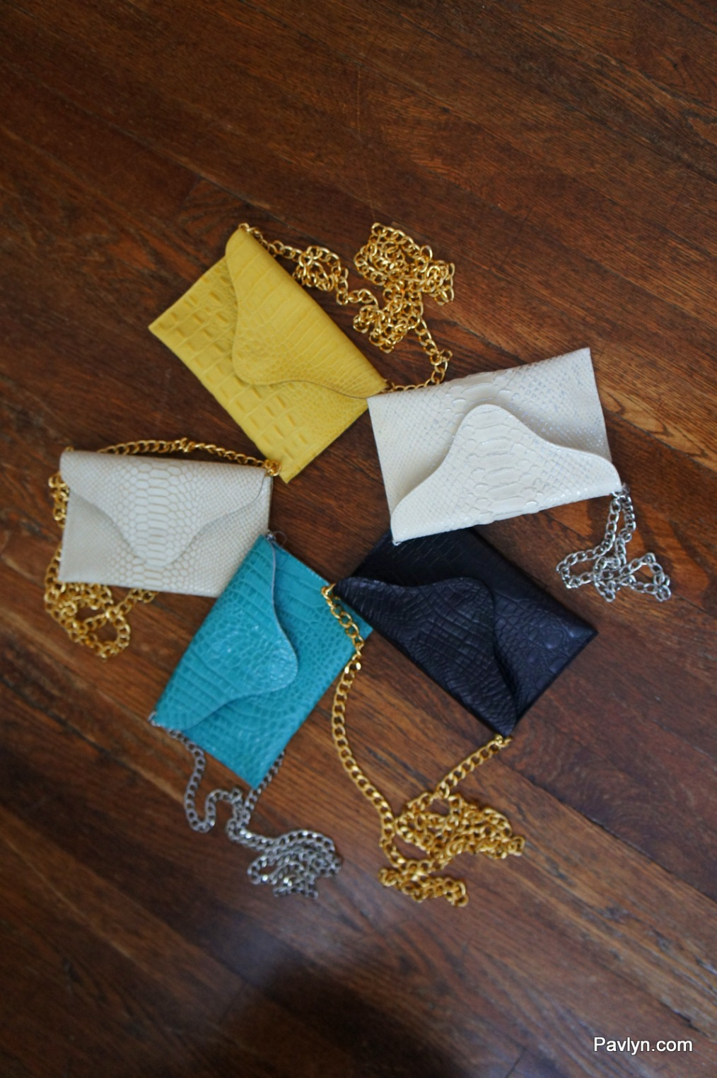 JJ Winters Envelope Clutches in all colours