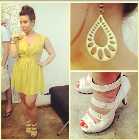 Nat from Nat and Marie Show wearing Keepsake dress