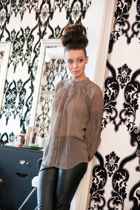 Blaque Label Sheer Wood Blouse