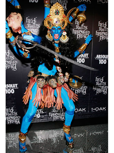 Heidi Klum as an Indian God