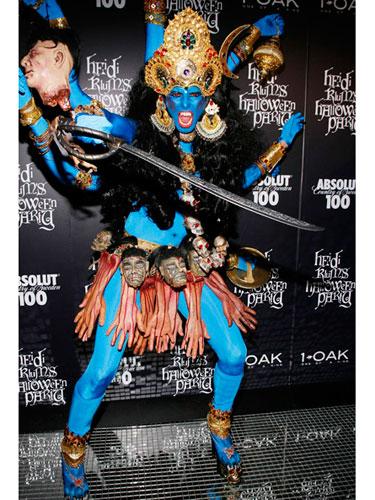 Heidi Klum as an Indian God
