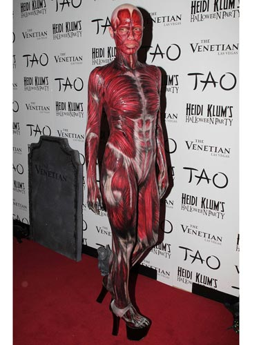 Heidi Klum as bodies costume