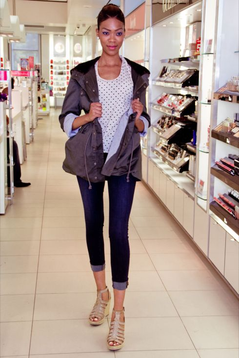 J Brand Palisade Skinny Jeans and Mink Pink Anorak Jacket