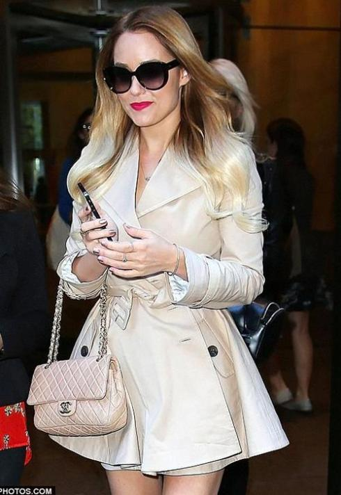 Lauren Conrad in Paper Crown London Coat