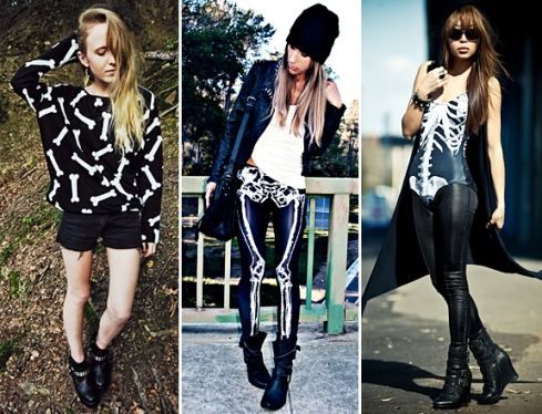 Ways to wear the skeleton trends