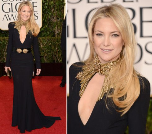 Kate Hudson in Alexander McQueen at Golden Globes